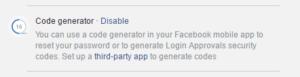 facebook-code-generator